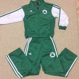 Kid's Celtics Adidas Track Suit